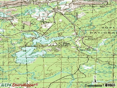 Hoyt Lakes topographic map