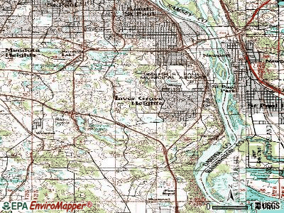 Inver Grove Heights topographic map