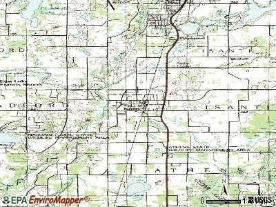 Isanti topographic map