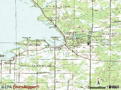 Isle topographic map
