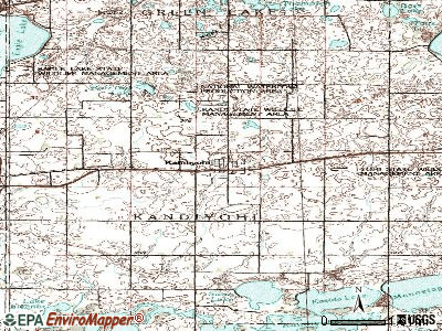 Kandiyohi topographic map