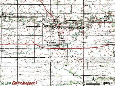 Kellogg topographic map