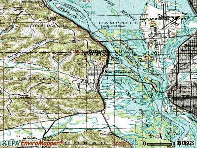 La Crescent topographic map