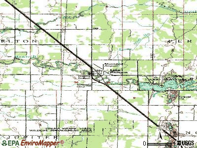 Lake Bronson topographic map