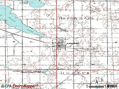 Lakefield topographic map
