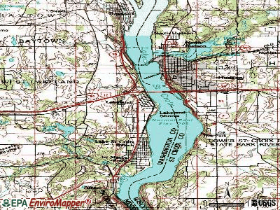 Lakeland topographic map