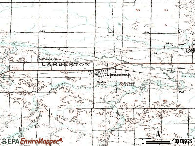 Lamberton topographic map