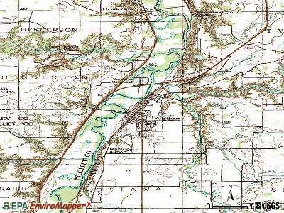 Le Sueur topographic map