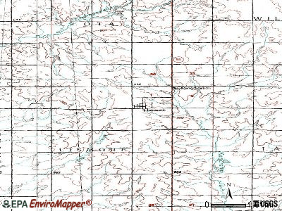 Lismore topographic map