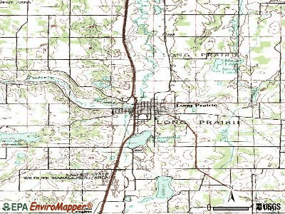 Long Prairie topographic map