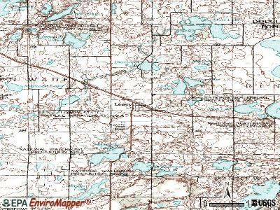 Lowry topographic map