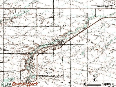 Lynd topographic map