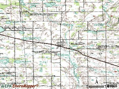 McIntosh topographic map