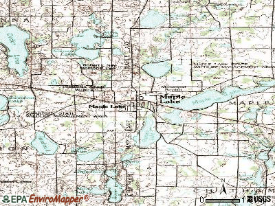 Maple Lake topographic map