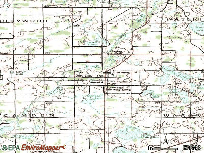 Mayer topographic map