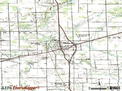 Milaca topographic map