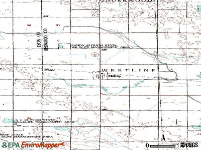 Milroy topographic map