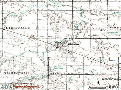 Minneota topographic map