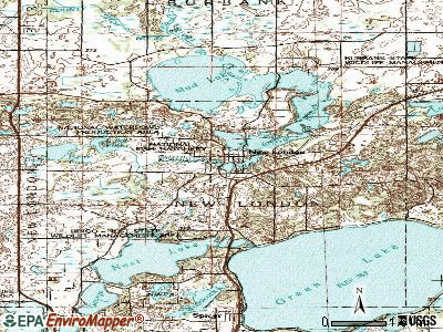 New London topographic map