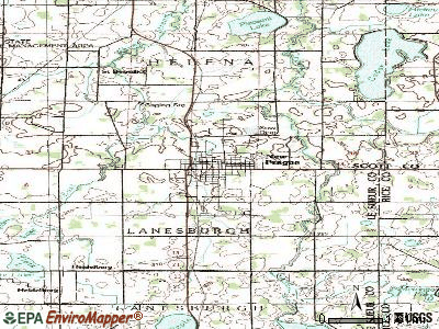 New Prague topographic map