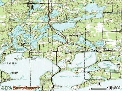 Nisswa topographic map