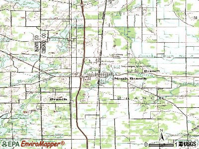 North Branch topographic map