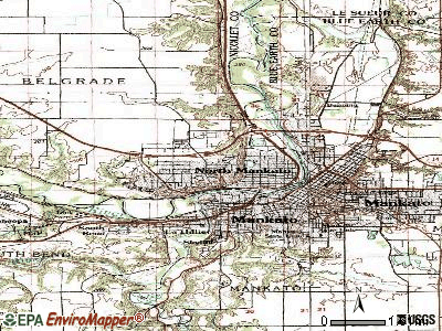 North Mankato topographic map