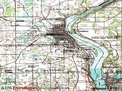 Oak Park Heights topographic map
