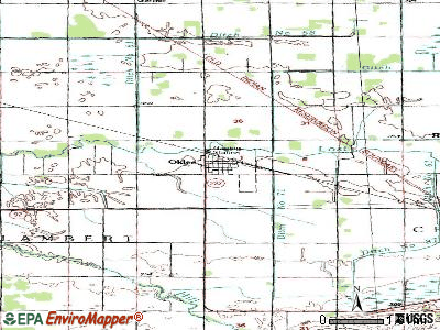 Oklee topographic map