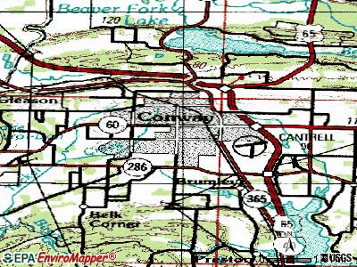 Conway topographic map