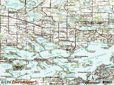 Orono topographic map