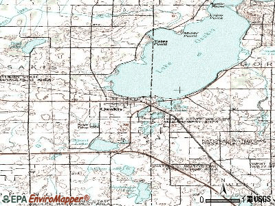 Osakis topographic map