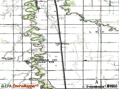 Perley topographic map