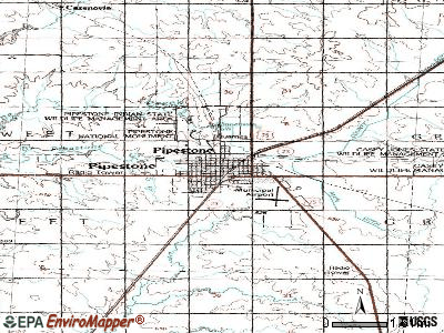 Pipestone topographic map