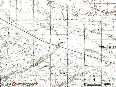 Porter topographic map