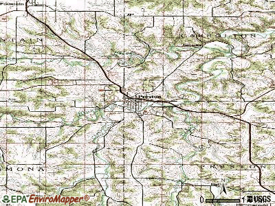 Preston topographic map