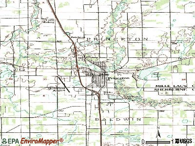 Princeton topographic map