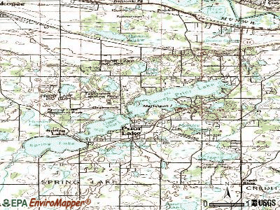 Prior Lake topographic map