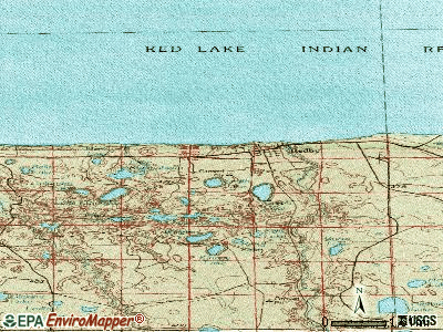 Redby topographic map
