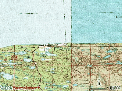 Red Lake topographic map