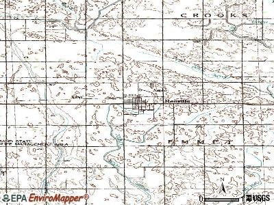 Renville topographic map