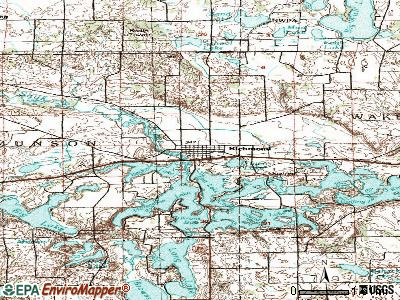Richmond topographic map