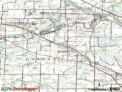Rogers topographic map