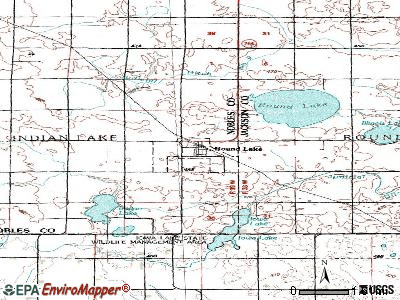 Rushmore topographic map