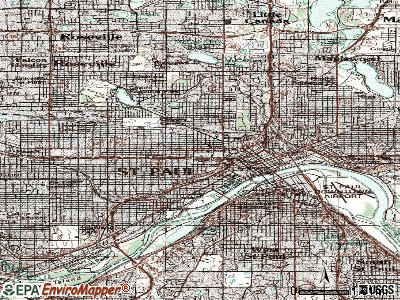 St. Paul topographic map