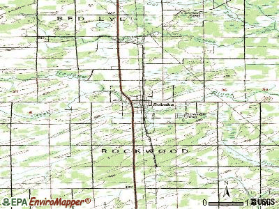 Sebeka topographic map