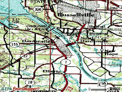 Dardanelle topographic map