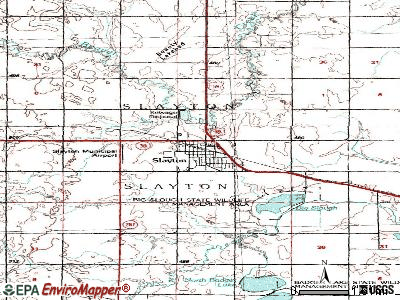 Slayton topographic map