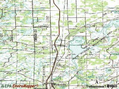 Stacy topographic map