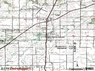 Stewartville topographic map